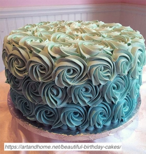 Tiffany-Blue-Ombre-Rosette-Cake